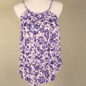 Philosophy Purple Floral Tank Size Small